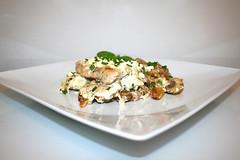 52 - Roast potatoes casserole with escalopes & chives feta cream - Side view / Bratkartoffelauflauf mit Schnitzeln & Schnittlauch-Feta-Creme - Seitenansicht (JaBB) Tags: kartoffeln bratkartoffeln potatoes friedpotatoes onion zwiebel speck bacon schnitzel escalopes schweineschnitzel porkescalopes cremefraiche schnittlauch chives feta schafskäse käse cheese champignons mushrooms food lunch dinner casserole bratkartoffelschnitzelauflauf friedpotatoesescalopecasserole essen nahrung nahrungsmittel mittagessen abendessen kochen cooking küche kitchen backen baking rezept recipe kochexperiment kochexperimente