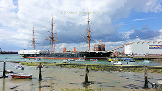 HMS Warrior  in Portsmouth Historic Dockyard, Victory Gate, HM Naval Base, Portsmouth PO1 3LJ,  England.