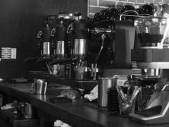 CoffeeMaker (Lainey1) Tags: coffeemaker coffee machines brew bw monochrome peixotocoffeeroasters lainey1 elainedudzinski olympusxz1 olympus