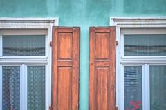 DSC04998 (eugenuity) Tags: window pane glass curtain wall façade shutter turquoise aqua
