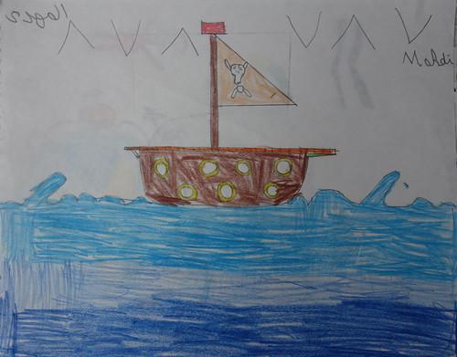 """dessin """"l'oiseau et l'enfant"""" (10)"""