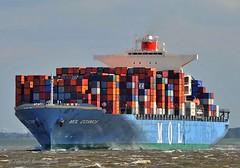 MOL Cosmos (Bernhard Fuchs) Tags: boat cargo cargoships cuxhaven containerschiff containerschiffe elbe frachtschiff frachtschiffe nikon schiffe ship ships water vessel mol boot schiff meer wasser
