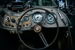 dashbord (laird.lothar) Tags: dashboard oldtimer mg roadster clock steering wheel vintage tachometer lenkrad schalter cabrio technik historisch