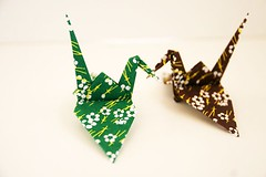 Paper Crane (Eridanus 21) Tags: ツル 千代紙 chiyogami papercrane origami おりがみ 折り紙 折り鶴 paper おりがみ写真 origamiphoto 千代紙chiyogami