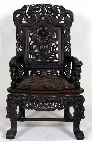 Ornate Highly Carved Oriental Chair ($728.00)