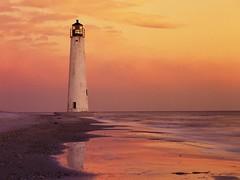 FM000032 (Ehab A.Saleh) Tags: america ocean lighthouse beacon navigation shipping island florida shore shoreline beach sunset reflection sand tower gulfofmexico