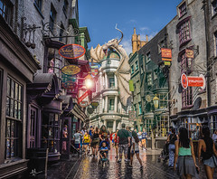 After I tapped the wall... (ashpmk) Tags: harrypotter harry potter hp diagonalley florida orlando universal gringotts alley london magic witch wizard muggles ollivanders ronweasley hermionegranger