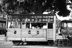 Food Truck (superzookeeper) Tags: formosa 5dmk4 5dmkiv canoneos5dmarkiv ef2470mmf28liiusm eos digital taiwan tw zhudong streetfood bnw blackandwhite monochrome foodtruck street nightmarket market