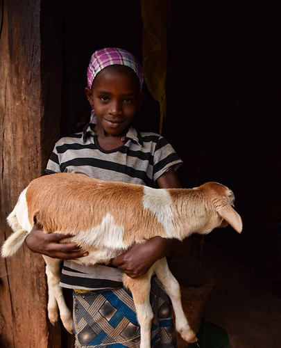 Wollayta Girl and Goat