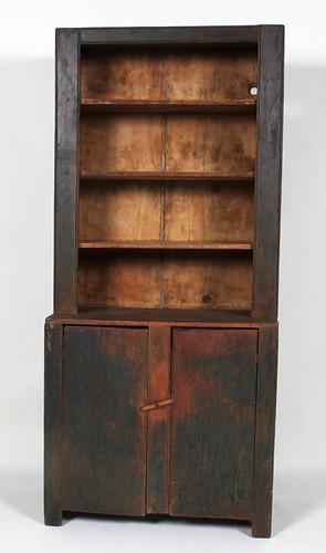 Primitive Early 1-Piece Stepback Cupboard ($1,680.00)