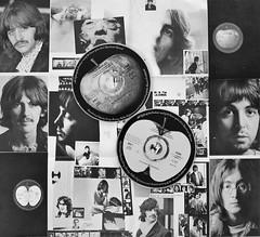BEATLES WHITE ALBUM (Rob Patzke) Tags: beatles music classic collage bw album lumix lx100 monotone song cd rock pop