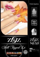 {ZOZ}  Fall Tipped LT pix L (Zoz icon) Tags: zoz zozicon {zoz} applier mesh meshnails mani manicure pedi pedicure frenchtip french beach ocean starfish slocca original slink maitreya omega vista vistabento