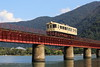 Railcar running on the bridge (Teruhide Tomori) Tags: kyoto japon japan railway railroad yurariver theyurariverbridge ktr ktr700series river train dmu single landscape 京都丹後鉄道 日本 列車 北近畿 京都 宮津 由良川 由良川橋梁 丹後由良 ディーゼルカー 単線 気動車 bridge
