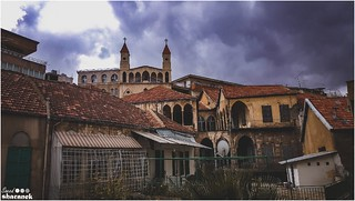 took it with my phone .. my camera was not with me . isaw this beautiful composition of that church .. was a great view ! old abandoned church in zahle ! hope u like it !! (Took it with a NOTE 5 phone)