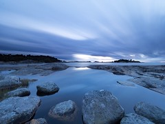 5 minutes of blue moment (Jarno Nurminen) Tags: nisi filter finland coast olympus reflection rocks seascape bluemoment longexposure