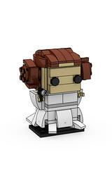 Starwars Princess Leia Brickheadz (minimal_brick) Tags: starwars princess leia brickheadz