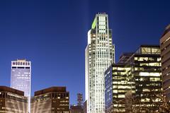 First National Tower Omaha (tdweeksomaha) Tags: omaha tower night sky skyline nebraska woodmen first national bank