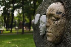 Stone faces. Closeup (Pavel F.by) Tags: stone face faces clouseup belarus smorgon sculpture art installation беларусь сморгонь арт инсталляция скульптура nikon 35mm nikkor