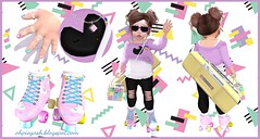 i♥the 80s! Featuring Maple, Basil, Lula Bell, Polished & Many More for Thimble! (♥ Ellie ♥ Oh Pie Gosh ♥) Tags: 80s accessories basil lulabell maple outfit polished secondlife thimble