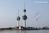 Kuwait Towers (Nourah.A.Edhbayah (Super Flower♥إظبيه)) Tags: red arrows tour kuwait towers nourah abdullah edhbayah q8 نوره عبدالله اظبيه الكويت ابراج الاسهم الحمر