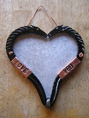 Martin Horse Head Heart picture Frame 17-10-2017 (Lord Inquisitor) Tags: blacksmith brother forged induction forge horse head heart paint black steel photo frame