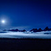 Full moon over the Tetons
