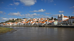 Alcácer do Sal (MrBlueSky*) Tags: alcácerdosal sado town river water view panorama sky blue clouds alentejo portugal travel canon canoneos canonm6