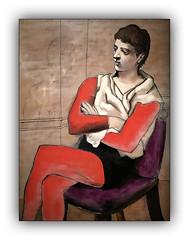L'artiste du cirque (jldum) Tags: penture tableau pablopicasso art artist artistic artistique red rouge frame bordure
