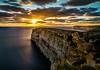 Sunset at the cliffs (K.H.Reichert [ not explored ]) Tags: twilight sunset clouds ocean meer sea cliffs wasser sonnenuntergang sky himmel felsen coast wolken rocks sanlawrenz malta mt gozo marietta
