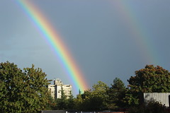Awesome Rainbow 1 (A.G. Buron Photography) Tags: rainbow surreybc surrey vancouver vancouverbc rain canada trees sky colors