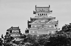 Shirasagijo XVI (Douguerreotype) Tags: castle mono buildings bw monochrome architecture japan blackandwhite