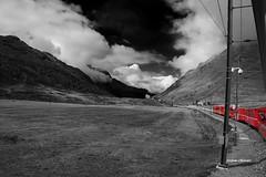 Bernina Express (stefano.chiarato) Tags: bernineexpress treninirosso svizzera italy montagne mountains train tren bw rosso pentaxart pentax pentaxlife pentaxk70
