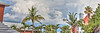 Bermuda sky (albyn.davis) Tags: bermuda sky clouds trees buildings orange colors colorful green peach blue vacation travel panorama hdr