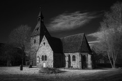 The Last Light (RAM.style) Tags: church kirche eglise monochrome infrared infrarot blackwhite schwarzweis bw sw nikonrebuiltforir ramstyle ramstylepictures darkstyle darkstylepictures