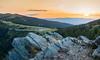 Weinebene: Sunset (hl_1001) Tags: austria styria carinthia sunset landscape mountain mountainpass mountaintop sky orange forest rocks hdr