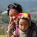 Happy mum, angry baby - Sapa - Vietnam