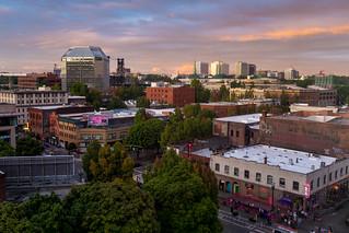 Twilight in Portland, Oregon, USA