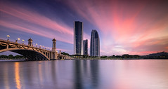 - Dramatic at Putrajaya - (Md Farhan's Gallery) Tags: putrajaya putrajayadam empanganputrajaya gemilangdam building urbanscape urban sunrise morning sky cloud dramatic reflection fujifilm fujinon xt1 xf1024mm lake nationalgeographic lensamalaya landscape nature malaysia selangor travel holiday vacation