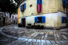 Round here (tiggerpics2010) Tags: porec croatia oldtown istria adriatic pavements cobbled streets patterns