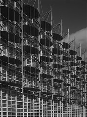 Birmingham Architecture (Mike Peckett Images) Tags: architecture alternativearchitectureandstreetdetail architectural birmingham digbeth mikepeckett mikepeckettimages streetphotography flickr custardfactory blackandwhite