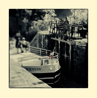 Lock keepers - Canal du Midi (tilt shift)