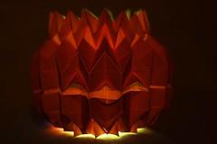 Jack O' Lantern (Tomohiro Tachi) (De Rode Olifant) Tags: origami paper paperfolding jackolantern halloween tomohirotachi marjansmeijsters pumpkin 3d videotutorial jonakashima vividorange smileonsaturday