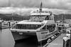Prince Rupert Adventure Tours' 100-Passenger Catamaran (MIKOFOX ⌘ Thanks 4 Your Faves!) Tags: canada spring catamaran xt2 princerupert june learnfromexif monochrome bc whalewatching bw fujifilmxt2 blackandwhite mikofox harbour britishcolumbia xf18135mmf3556rlmoiswr