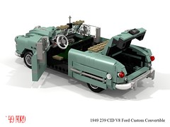 Ford 1949 Custom V8 Convertible (lego911) Tags: ford motor company 1949 1940s classic v8 custom convertible auto car mom model miniland lego lego911 ldd render cad povray lugnuts challenge 120 happy10thanniversarylugnuts happy 10th anniversary 103 tefabulousforties fabulous forties usa america
