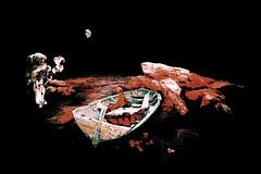 Houston ???   HOOOUSTOOON !!!!! (smithjuha440) Tags: spas composing mars austonaut stein rot erde planet photoshop
