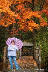 BEAUTIFUL COLORS & MY BEAUTIFUL WIFE (The Suss-Man (Mike)) Tags: autumn blairsville fall fallcolors georgia laketrahlyta nature sonyilca77m2 sussmanimaging thesussman vogelstatepark heather wife umbrella