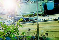 Los Angeles (kirstiecat) Tags: la losangeles lostangel california cali america us flare cinematiclensflare cinematic person stranger woman reflection architecture colour color green blue nature street canon urban city