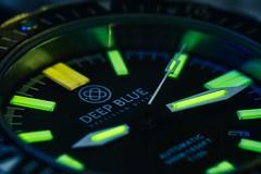 Tritium Watch (NVenot) Tags: macro deep blue watch watches dive diver every day carry t100 tritium vial glow glowing radioactive fotodiox tokina 100mm f28 adaptor fuji fujifilm xt1 long exposure tripod closeup automatic extention tubes