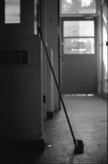 look back in anger. (von8itchfisk) Tags: film shoot ishootfilm analog photography von bitchfisk broom black white fomapan self developed monochrome filmisnotdead olympus om10 35mm