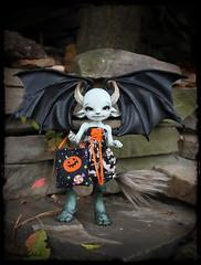 Someone is ready for Halloween! (ban sidhe) Tags: realfee bjd doll fairyland pano